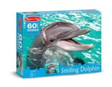 Smiling Dolphin Jigsaw Puzzle, 60 Pieces