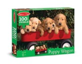 Puppy Wagon Jigsaw Puzzle, 100 Pieces