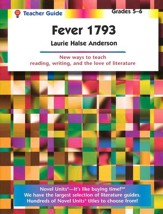 Fever 1793, Novel Units Teacher's Guide, Grades 5-6
