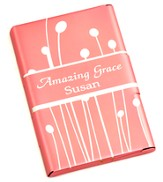 Personalized, Metal Business Card Holder, Amazing Grace, Pink