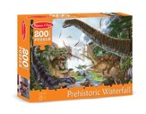 Prehistoric Waterfall Jigsaw Puzzle, 200 Pieces
