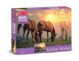Sunset Horses Jigsaw Puzzle, 300 Pieces