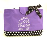 Love God, Love One Another--Water-Repellent Tote