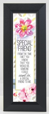 Special Friend Framed Art