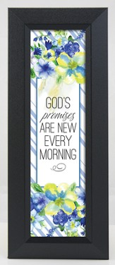 God's Promises Are New Every Morning Framed Art