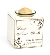 Personalized, Love Never Fails Votive Holder