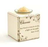 Personalized, Your Word is a Lamp Votive Holder, Single