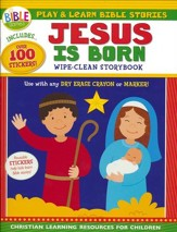 Play and Learn Bible Stories: Jesus Is Born: Wipe-Clean Storybook