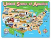 USA Map Jigsaw Puzzle, 45 Pieces