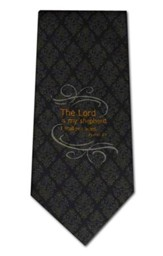 The Lord Is My Shepherd, Black Polyester Tie, Boxed
