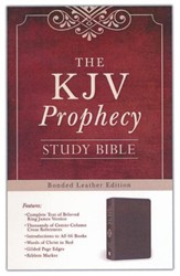 The KJV Prophecy Study Bible, Leather, bonded