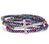 Cross Stretch Wrap Bracelet, Rainbow