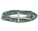 Cross Stretch Wrap Bracelet, Green