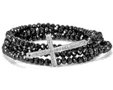 Cross Stretch Wrap Bracelet, Black