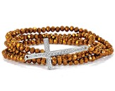 Cross Stretch Wrap Bracelet, Bronze