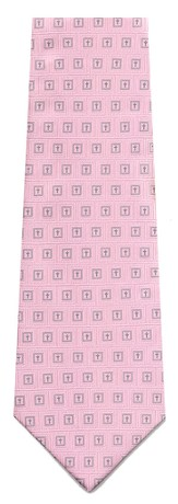Mini Boxed Crosses, Pink Polyester Tie, Boxed