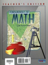 Math 7: Fundamentals Of Math, Teacher's Edition