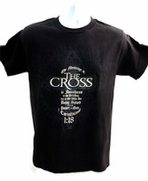 The Message of the Cross Shirt, Black, XX Large