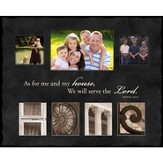 As For Me and My House, HOME, Alphabet Photo Frame, Large