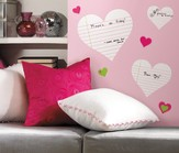 Hearts Dry Erase Vinyl Wall Stickers