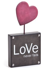 Love Never Fails Block Sculpture
