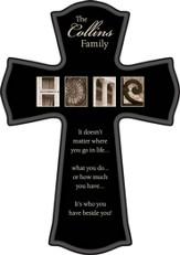 Personalized, Home Black Cross, 11.5