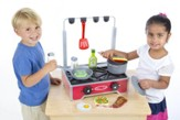 Deluxe Wooden Cooktop Play Set