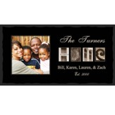 Personalized, Home Black Photo