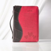 Love, 1 Corinthians 13 Bible Cover, Pink, Medium