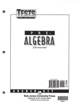 BJU Math Grade 8: Pre-Algebra, Tests Answer Key