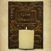 Give Thanks Metal Candle Sconce