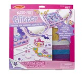 Treasure Box, Mirror and Jewelry, Mess Free Glitter Kit