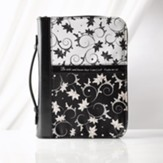 Bible Cover - Medium Micro-Fiber Black & White