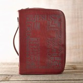 Bible Cover - Large Luxleather Burgundy Names of Jesus
