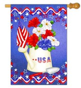 USA, Patriotic Petunias Flag, Large