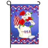 USA, Patriotic Petunias Flag, Small