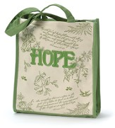 Tote Bag Floral Green Hope