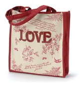Tote Bag Floral Red Love