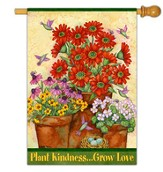 Plant Kindness, Grow Love Flag, Large