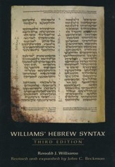 Williams' Hebrew Syntax, 3rd ed.
