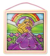 Peel and Press Stained Glass Stickers, Princess