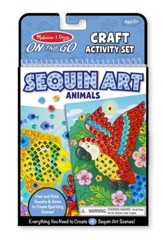 Animals Sequin Art On-the-Go Set