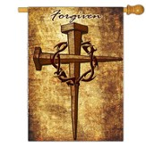Forgiven Nail Cross Flag, Large