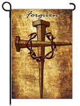 Forgiven Nail Cross Flag, Small