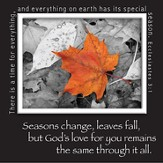 Picture Magnet, Leaf, God's Love For You Remains