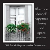 Picture Magnet, Door, Matthew 19:26