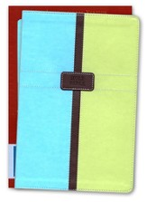 NIV Life Application Study Bible, Italian Duo-Tone, Pool Blue/Melon Green 1984, Case of 12