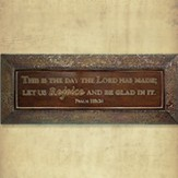 This is the Day Metal Wall Plaque