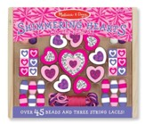 Shimmering Hearts Wooden Activity Bead Set