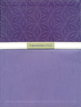 NIV Grandmother's Bible, Large-Print Edition--bonded leather, violet 1984